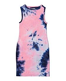 Big Girls Tie-Dye High-Neck Tank Dress