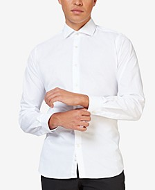 Men's White Knight Solid Color Shirt