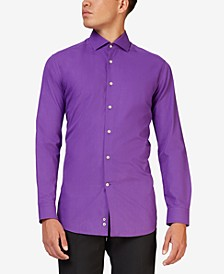 Men's Purple Prince Solid Color Shirt