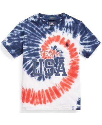 폴로 랄프로렌 남아용 반팔티 Polo Ralph Lauren Toddler Boys Team USA Tie-Dye Cotton T-shirt,Tie Dye Blue