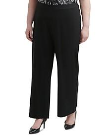 Plus Size Pull-On Straight-Leg Pants