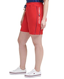 Tommy Hilfiger Plus Size Side-Piped Pull-On Shorts