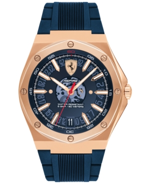 Men's Aspire Blue Silicone Strap Watch 42mm