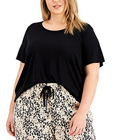 Plus Size Solid Pajama T-Shirt, Created for Macy's