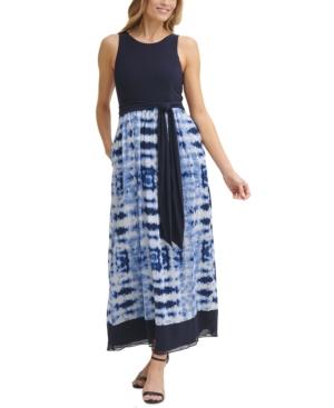Tie-Dyed Sleeveless Maxi Dress