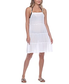 Tiered Crochet Neck Cover-Up Dress