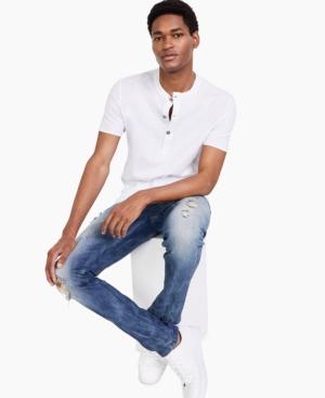 Inc International Concepts Men's Deep Henley Shirt, Created for Macy's