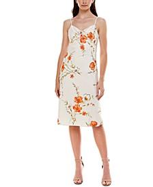 Juniors' Floral-Print Sheath Dress