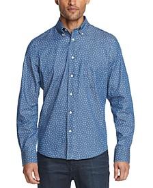 Men's Regular-Fit Untucked Indigo Dress Shirt