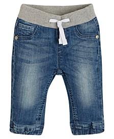 Baby Boys Knit Denim Pull-On Joggers