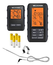 Dual Probes Meat Thermometer with LCD Screen for Grill
