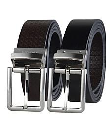 Men's Micro Logo Strap Reversible Casual Belt