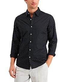Men's Slim-Fit Stretch Dot Print Shirt