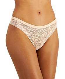 Women's Leopard Lace Thong, Created for Macy's