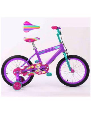 Rugged Racers Unicorn Kids Bike with Training Wheels