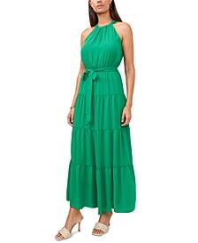 Tiered Belted Halter Dress