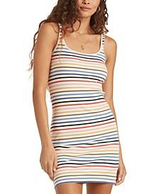Juniors' Till Dawn Striped Tank Dress