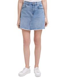 Basic A-Line Jean Skirt