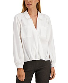 Surplice Collared Top, Created for Macy's