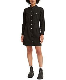 Ellie Denim Button-Front Dress