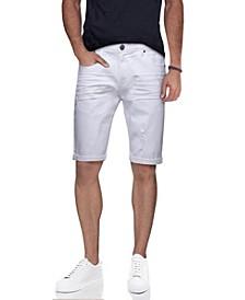 Men's Stretch Roll Up Denim Shorts