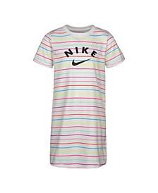 Little Girls Striped T-shirt Dress