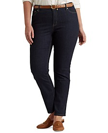 Plus-Size Mid-Rise Straight Jean
