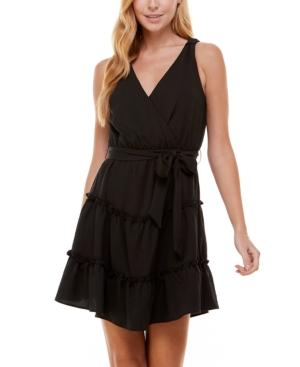 Juniors' Sleeveless Tiered Fit & Flare Dress
