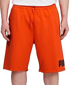 "Men's Big & Tall Regular-Fit Logo-Print 10"" Fleece Shorts"
