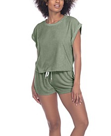 Just Chillin Terry 2pc Loungewear Shorts Set