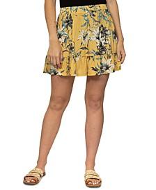 Juniors' Tiered Mini Skirt