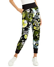 Petite Printed Jogger Pants, Created for Macy's