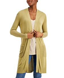 Ribbed Duster Cardigan, Created for Macy's