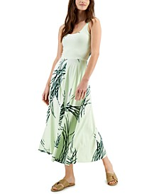 Petite Printed Fit & Flare Tank Dress, Created for Macy's