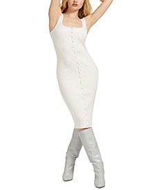 Lana Button-Front Bodycon Dress