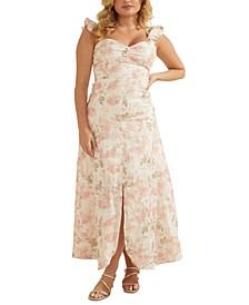 Rose-Print Maxi Dress
