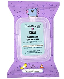 BT21 Mang Moisturize & Illuminate Complete Cleansing Towelettes, 20 count