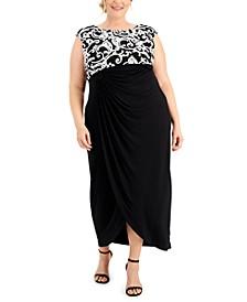 Plus Size Soutache Maxi Dress