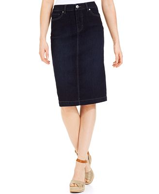 style co denim skirt rinse wash only at macy s