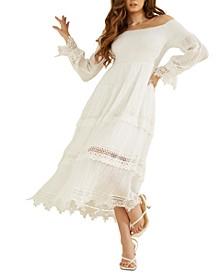 Amberlee Lace-Trim Maxi Dress