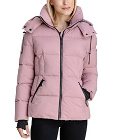 Stretch Hooded Puffer Coat