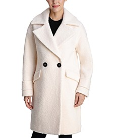 Double-Breasted Bouclé Walker Coat, Created for Macy's