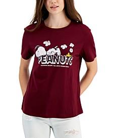 Juniors' Snoopy Logo T-Shirt