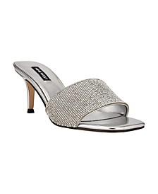 Women's Donna Square Toe Low Dress Sandals
