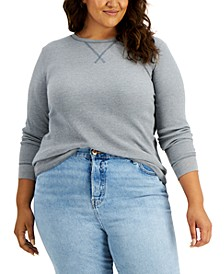 Plus Size Waffle-Knit Top, Created for Macy's