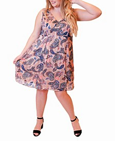 Plus Size Printed Sleeveless Dress
