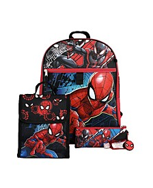 Kids Spiderman 6 Piece Backpack Set