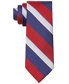 Men's Thick Tri-Color Stripe Slim Tie
