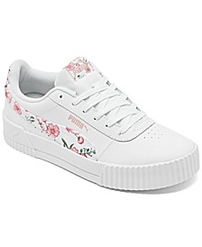 Big Girls Carina Floral Casual Sneakers from Finish Line