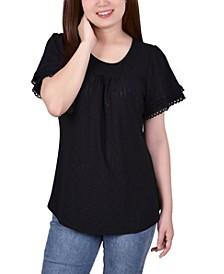 Women's Double Flutter Sleeve Top